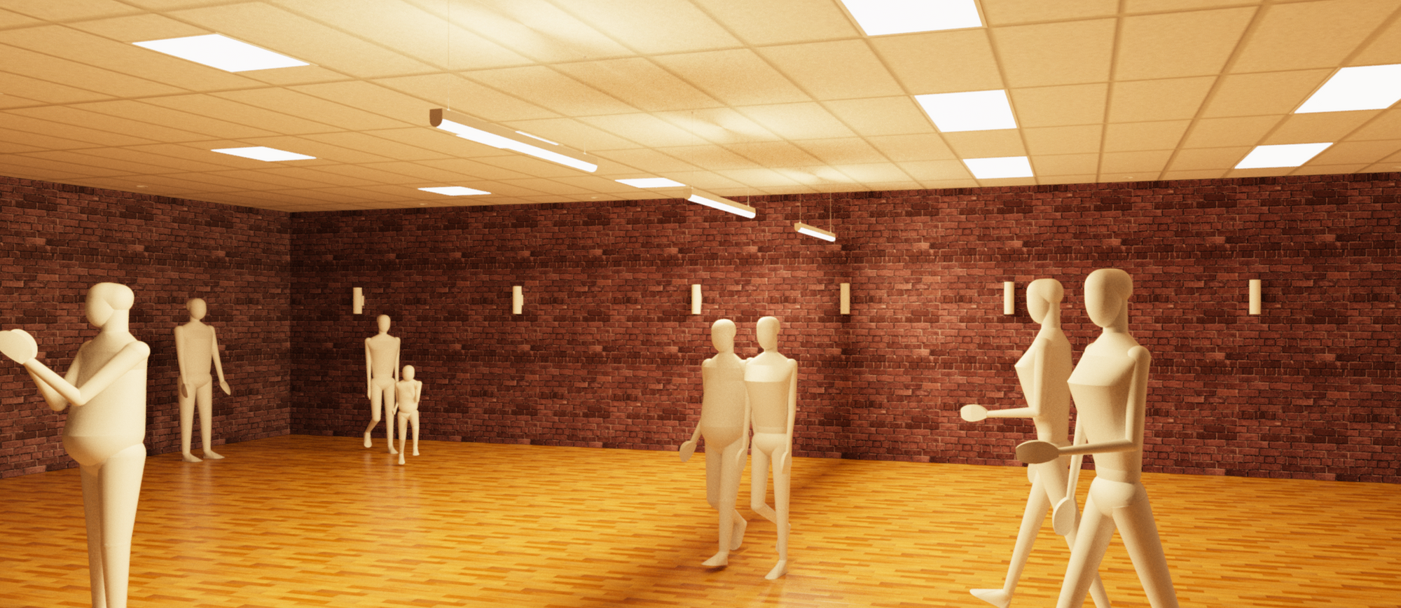 image showing rendered interior scene from Revit.