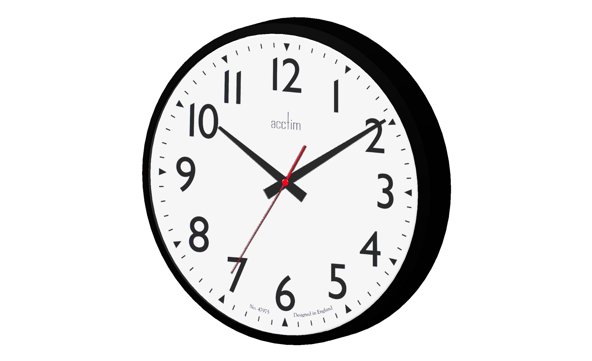 3D image showing analogue wall mounted clock.