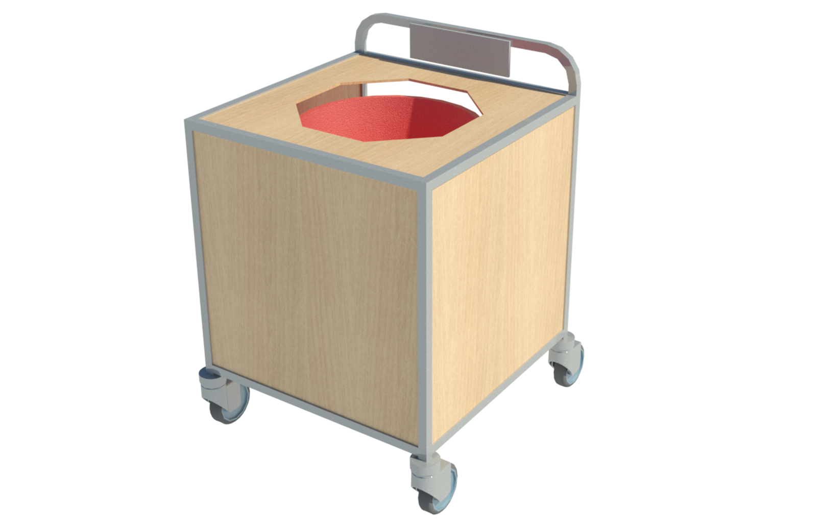 Revit family of food waste trolley from Health and Care.