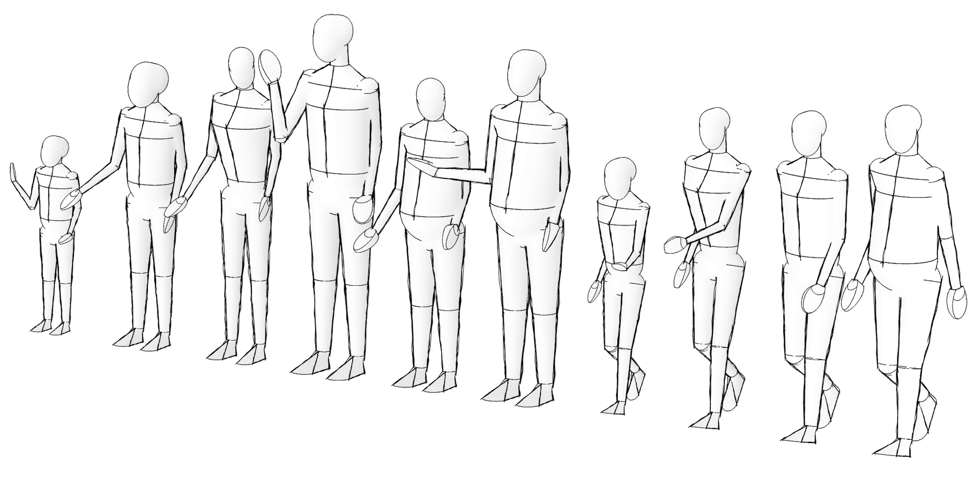 Andy Entourage Revit family in sketch line.