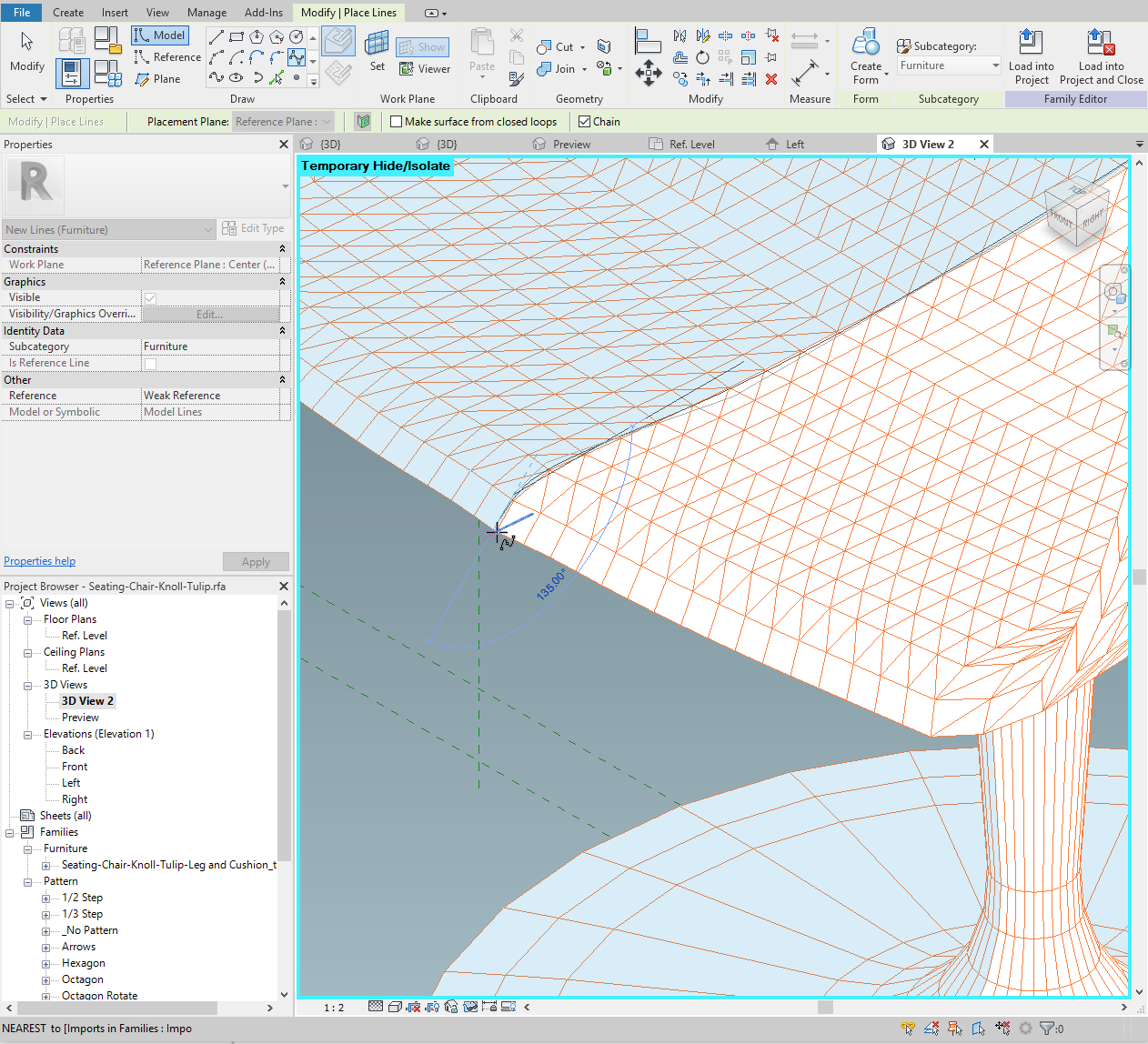 Continue the spline until the end of the slice.