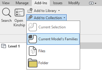 """Add """"Current Model's Families"""" to upload all supported content including Filled Regions and Fill Patterns."""