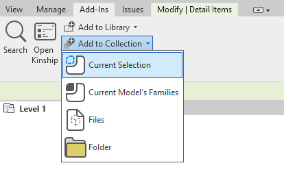 """Add using """"Current Selection"""" option to upload content selected in view or Project Browser."""