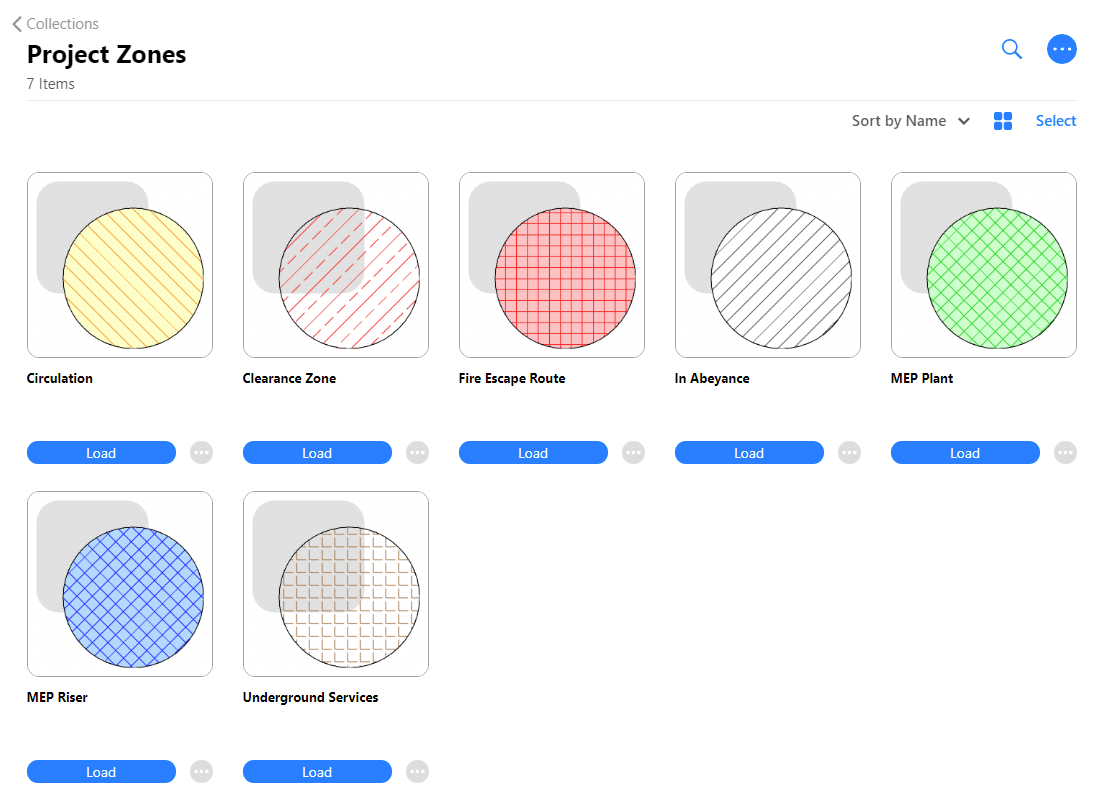 Filled Regions viewed in the web browser.